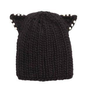 NWT Eugenia Kim Felix Cat Ear Pearl Toboggan Hat